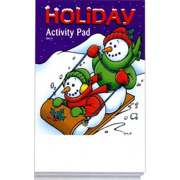 Imprinted Holiday Activity Pad Fun Pack