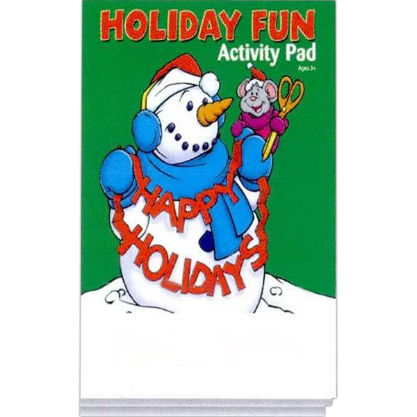 Personalized Holiday Fun Activity Pad Fun Pack