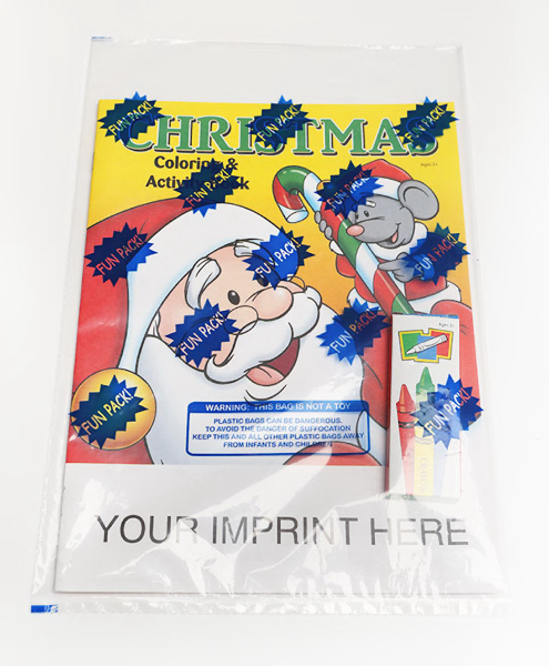 Personalized Christmas Coloring and Activity Book Fun Pack