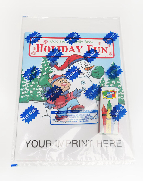 Customized Holiday Fun Coloring and Activity Book Fun Pack