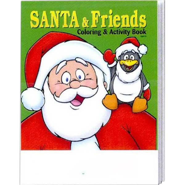 Imprinted Santa and Friends Coloring and Activity Book Fun Pack