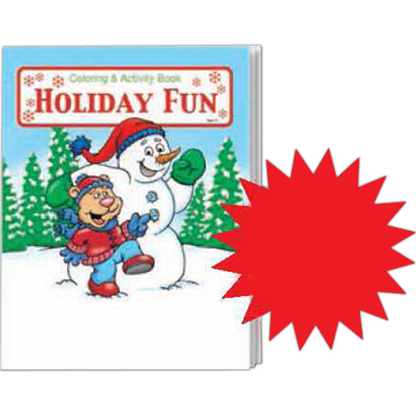 Printed Holiday Fun Coloring and Activity Book Fun Pack