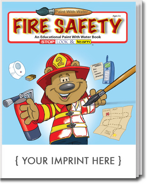 Imprinted Fire Safety Paint With Water Book