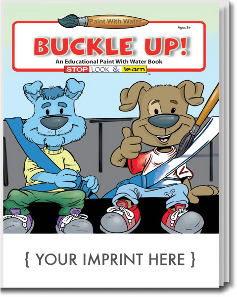 Imprinted Buckle Up Paint With Water Book