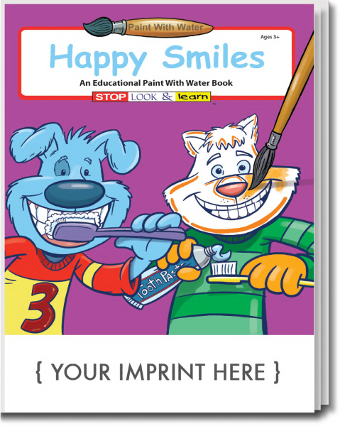 Customized Happy Smiles Paint With Water Book