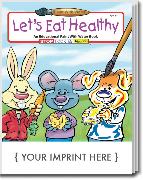 Customized Let's Eat Healthy Paint With Water Book