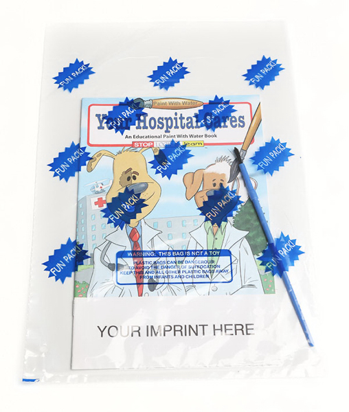Personalized Your Hospital Cares Paint With Water Book Fun Pack