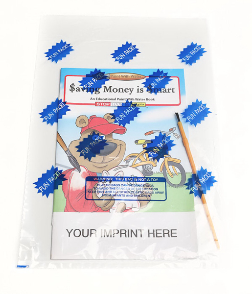 Printed Saving Money Is Smart Paint With Water Book Fun Pack