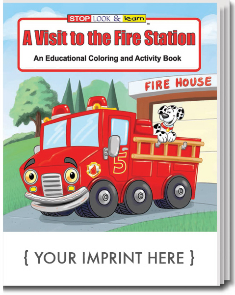 Imprinted A Visit to the Fire Station Coloring and Activity Book