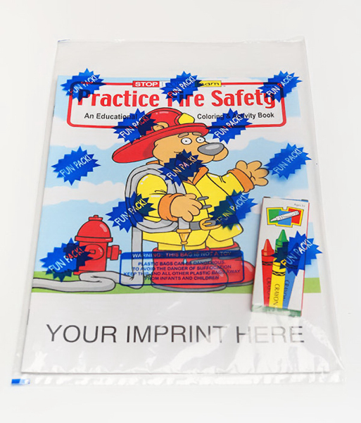 Custom Practice Fire Safety Coloring and Activity Book Fun Pack
