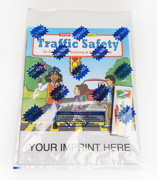 Custom Traffic Safety Coloring and Activity Book Fun Pack