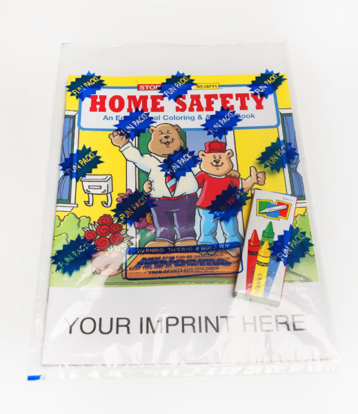 Customized Home Safety Coloring and Activity Book Fun Pack