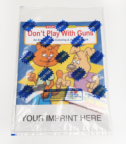 Promotional Don't Play with Guns Coloring and Activity Book Fun Pack