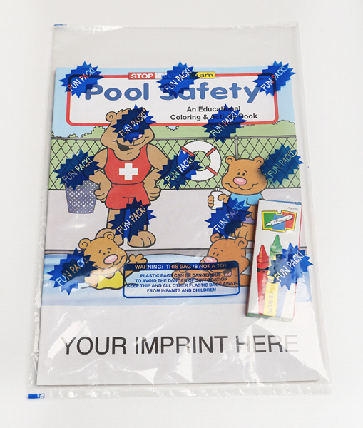 Imprinted Pool Safety Coloring and Activity Book Fun Pack