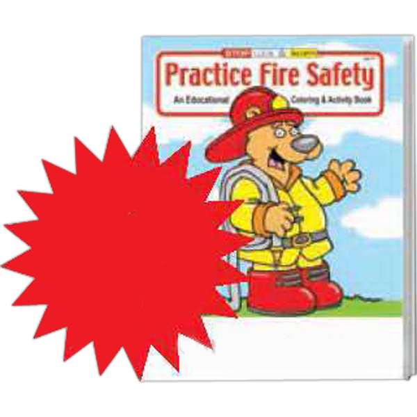 Imprinted Practice Fire Safety Coloring and Activity Book Fun Pack