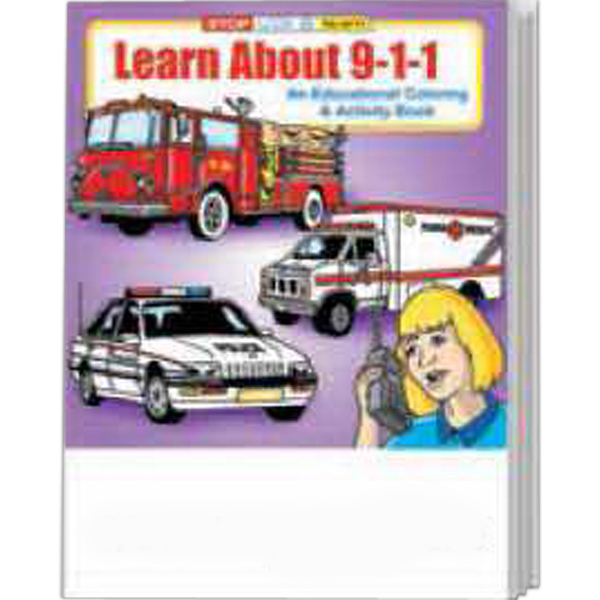 Custom Learn About 9-1-1 Coloring and Activity Book Fun Pack