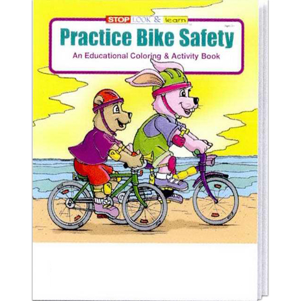 Printed Coloring Book - Practice Bike Safety Fun Pack