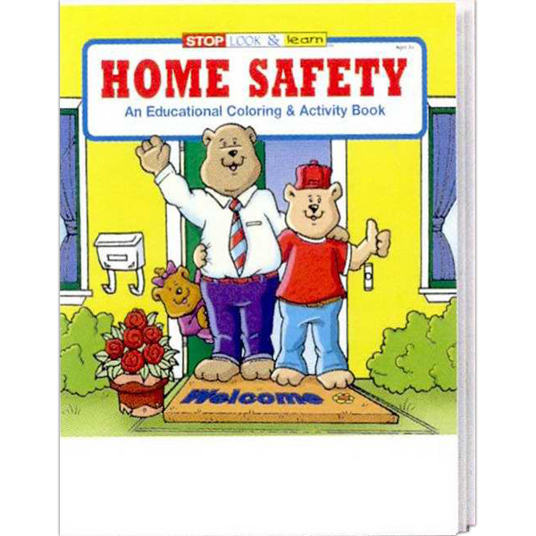 Imprinted Home Safety Coloring and Activity Book Fun Pack