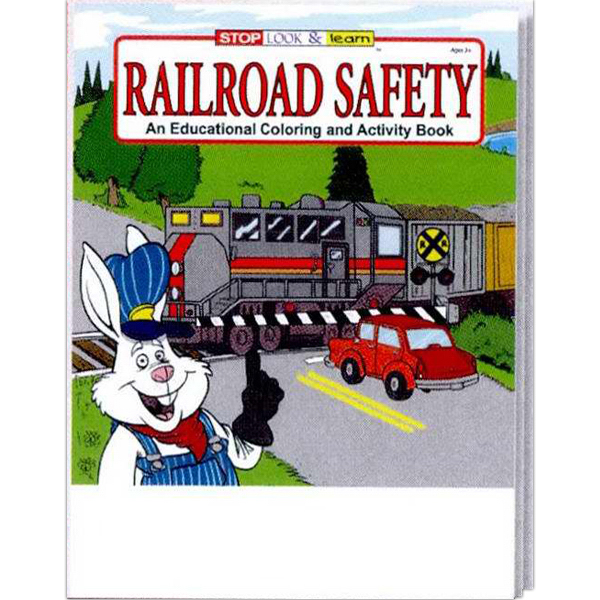 Printed Railroad Safety Coloring and Activity Book Fun Pack