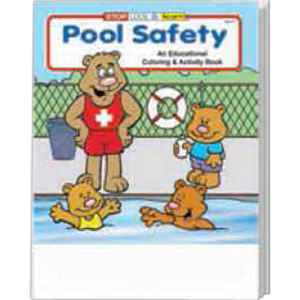 Custom Pool Safety Coloring and Activity Book Fun Pack