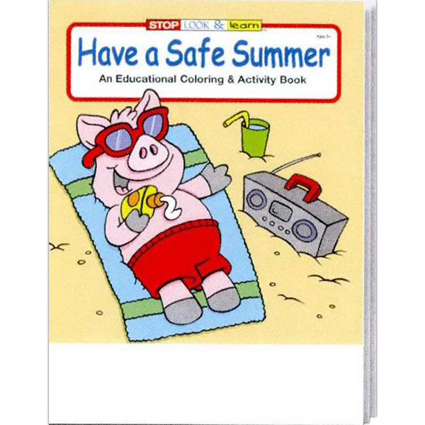Promotional Have a Safe Summer Coloring and Activity Book Fun Pack
