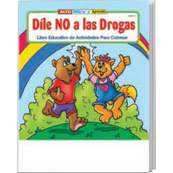 Imprinted Stay Drug Free Spanish Coloring and Activity Book Fun Pack