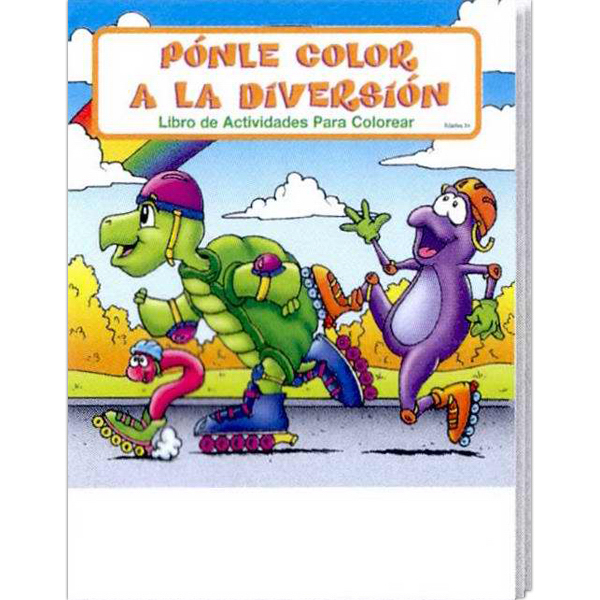 Customized Fun To Color Spanish Coloring and Activity Book Fun Pack