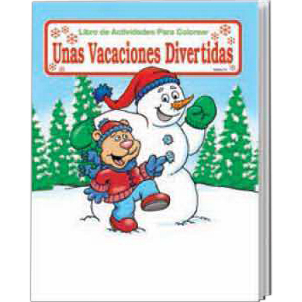 Promotional Holiday Fun Spanish Coloring and Activity Book Fun Pack