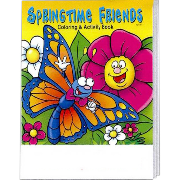 Promotional Springtime Friends Coloring and Activity Book Fun Pack