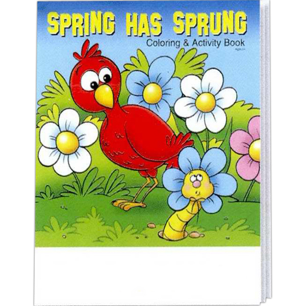 Printed Spring Has Sprung Coloring and Activity Book Fun Pack