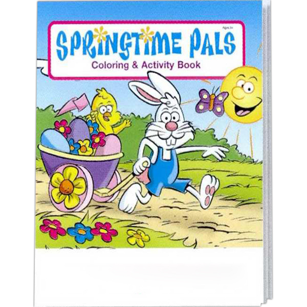 Imprinted Springtime Pals Coloring and Activity Book Fun Pack