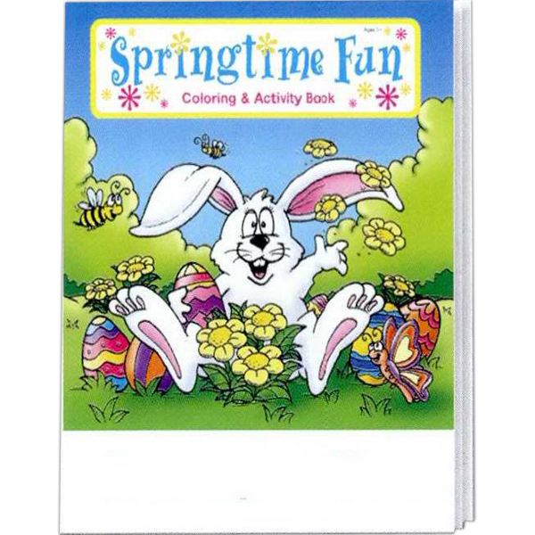Printed Springtime Fun Coloring and Activity Book Fun Pack