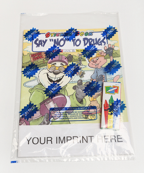 "Imprinted Say ""No"" To Drugs Sticker Book Fun Pack"