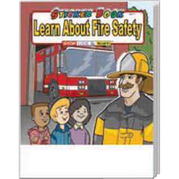 Printed Learn About Fire Safety Sticker Book Fun Pack