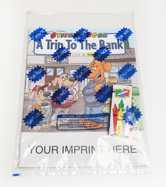 Customized A Trip To The Bank Sticker Book Fun Pack