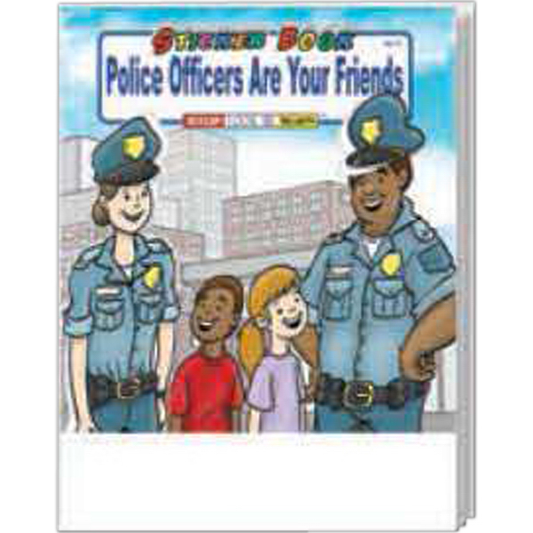 Personalized Police Officers Are Your Friends Sticker Book Fun Pack