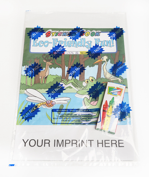 Customized Eco-Friendly Fun Sticker Book Fun Pack