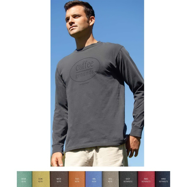 Personalized Color Wash Long Sleeve T-Shirt