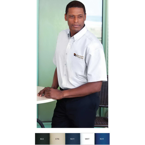 Customized Blended Poplin Short Sleeve Shirt