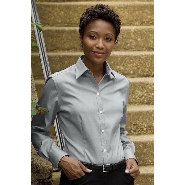 Personalized Womens Eagle No-Iron Pinpoint Oxford Shirt