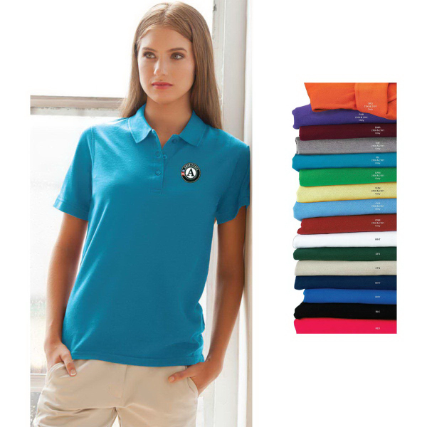 Imprinted Women's Soft Blend Double-Tuck Pique Polo