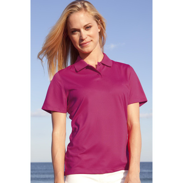 Personalized Women's Vansport (TM) Omega Solid Mesh Tech Polo