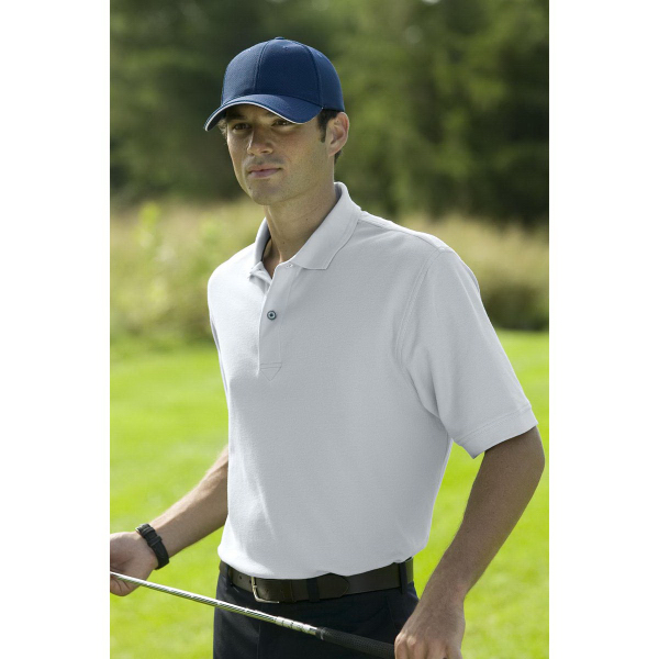 Printed Vansport (TM) Tournament Double-Tuck Pique Polo