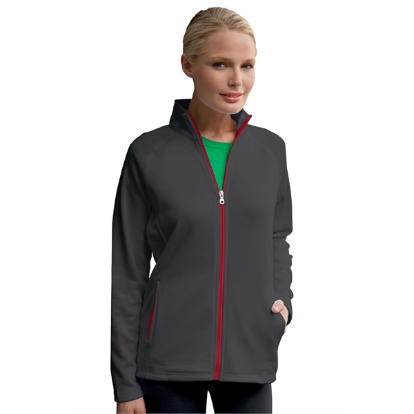 Imprinted Women's Brushed Back Micro-Fleece Full Zip Jacket