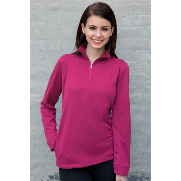 Printed Women's Vansport (TM) Mesh 1/4 Zip Tech Pullover