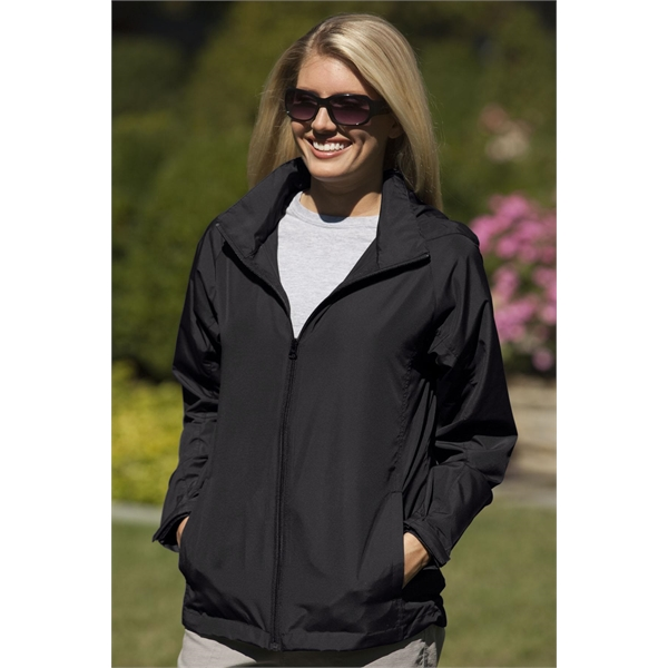 Printed Women's Full-Zip Lightweight Hooded Jacket