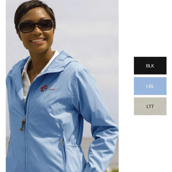Customized Women's Lightweight Packable Rain Jacket
