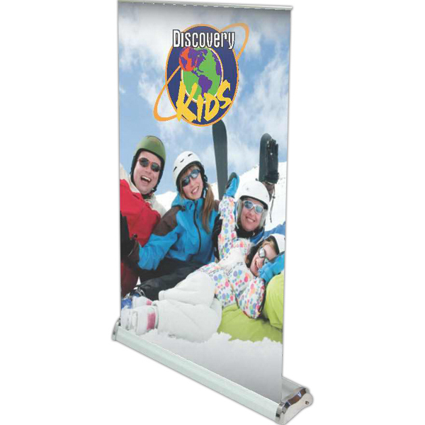 Promotional Economy Retractor Table Top Stand with Banner