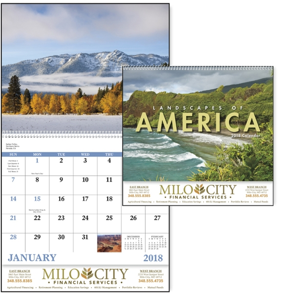 Promotional Landscapes of America English- Spiral Appointment Calendar