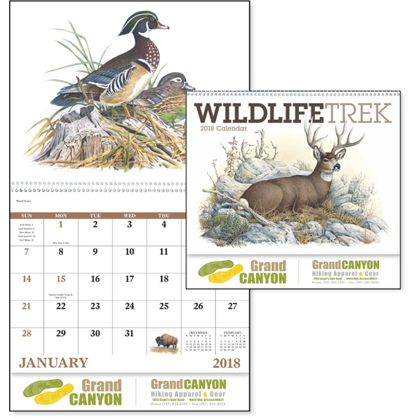 Customized Wildlife Trek Spiral  Appointment Calendar